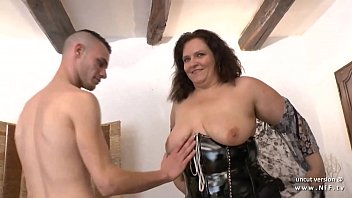 FFM French mom hard analized for her casting couch