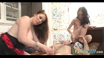 Mom and daughter threesome 1090