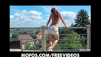 Petite slutty redhead has a hard time with her BF's big-dick