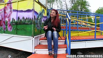 Sexy redhead amateur is fucked in a park for some cash 11 min