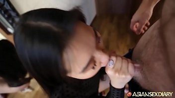 Fine ass Chinese girl fucked standing up