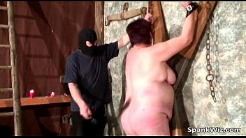Chubby Busty Br unette Gets Tied d