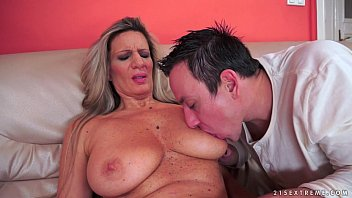 Enormous older tits Huge titted granny fucks in stockings
