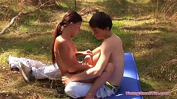 hot young girl  with small tits and young boyf  and young boyfriend
