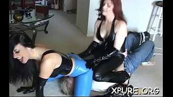 Attractive hottie dominates a chap by sitting on his face