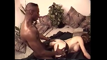 Busty white star in sexy lingerie loves lovers massive black cock
