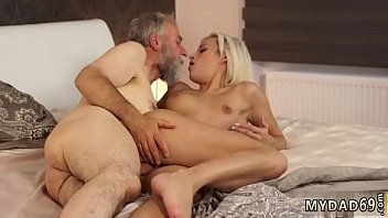 Nasty old man first time Surprise your gf and she will drill with
