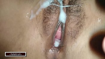 My cousin fucks me while I sleep, he takes advantage of me and leaves his rich milk in my pussy all wet ... real pov