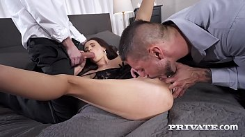 Private.com - Slutty Sex Craving Kate Rich Gets DPd By 2 Hard Cocks!