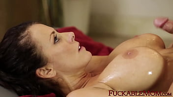 Reagan Foxx takes a young cock deep inside of her wet pussy