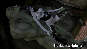 Lotr orc fuck Pale 3d brunette babe getting fucked hard by an orconverted-high 1
