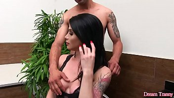 Sultry Shemale Victoria Carvalho and a Guy Suck Each Others Cocks