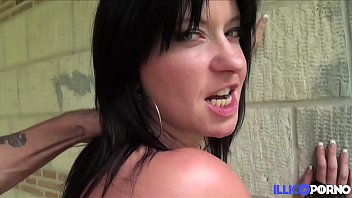Very hot brunette Emy wants to fill all her holes