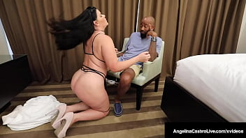 Cock Starved BBW Angelina Castro Blows & Bangs Delivery Dude's Dick!