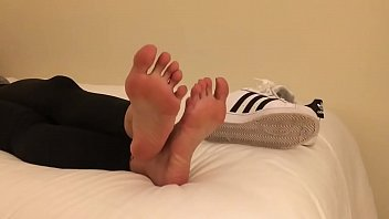 Barefoot Teen Adidas Shoeplay Part 1- www.prettyfeetvideo.com