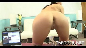 Pretty slut gets her tiny tang screwed