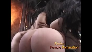 Black mistress enjoys dominating three helpless white girls at once