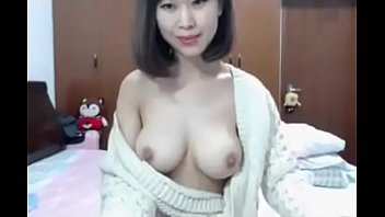 Skinny Asian girl showing big hairy pussy