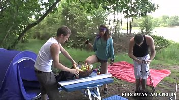 outdoor anal threesome with my two best friends