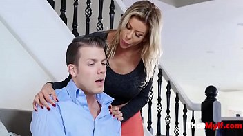 MILF Caught Son With Pants Down- Alexis Fawx
