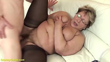 ugly fat grandma fucked by stepson