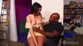 White girl black man sex - Taisa banx seduces a big horny black man