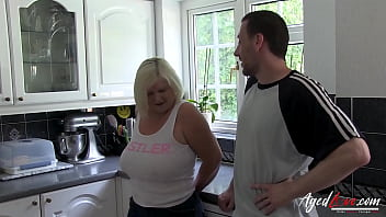 AGEDLOVE Blonde Mom Hard and Fast Rough Sex