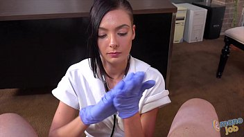 Hand jobs by a nurse - Busty nurse marley brinx does handjob