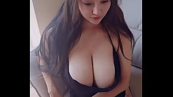 Beautiful girl with big breasts is masturbating and fuck