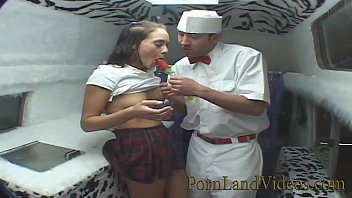 Vintage white mountain ice cream maker - Hot slutty school teen jessica fucking for the ice cream
