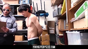 Asian Twink With Small Cock Caught Shoplifting Fucked By Security