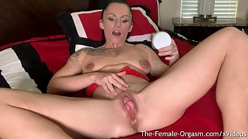 Touching a large clitoris Fit milf kora angel masturbates her large throbbing clit until she cums hard