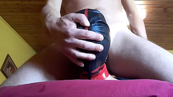 Laura on Heels amateur 2021. Bound on a bed and masked, she's throated in different ways and positions