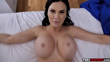 Busty MILF stepmom sneaked into his bed for big cock
