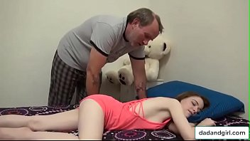 dadandgirl.com - Father wake up and fuck daughter from bedroom to livingroom