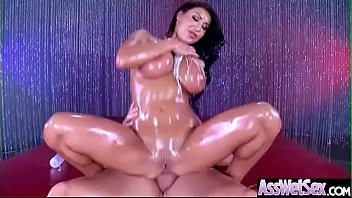 (August Taylor) Slut Girl With Big Oiled Butt Get Hard Anal Sex movie-10