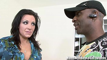 MILF Vannah Sterling Interracial Pussy Couch Fuck