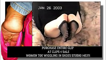 Clips4Sale Preview Janice Toe Wiggling in Stockings ( Archives circa 2003)