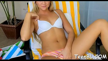 Charming legal age teenager is seducing hunk with her lusty pecker engulfing