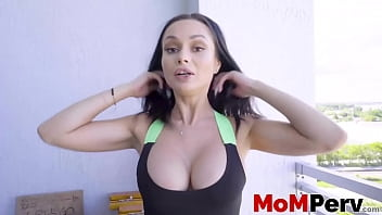 Busty stepmom gives head and takes it from behind in POV