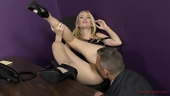 Bitchy Secretary Turns the Boss into Her Slave - Kennedy Kressler