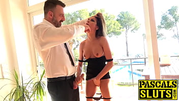 Submissive Francys Belle hardcore pussy and anal penetration