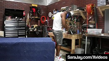 PAWG Milf Queen, Sara Jay, has to open sesame for a big black cock mechanic to pay for her car repair in this greasy dirty auto shop fuck clip ! Full Video & Sara Jay Live @ SaraJay.com!