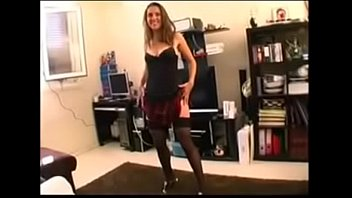 Wife strips for husband and friends