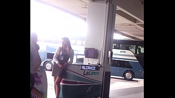 Rica edecan in the terminal