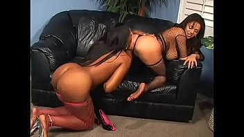 Hot brunettes with amazing tits Alexis Silver and Angel Eyes lick each other's pussies and play with strap-on