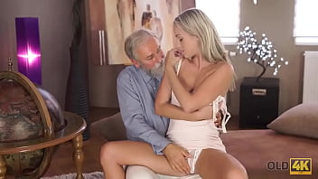 OLD4K. Sex of old pedagogue and sexy chick ends with awesome cumshot