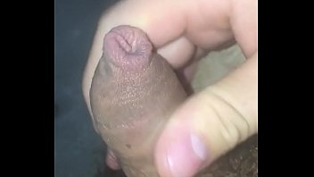 jerking off small uncut cock