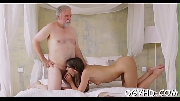 Old guy seduces young chick