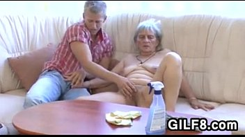 Sexy old lady tubes Old cleaning lady gets fucked by a young guy